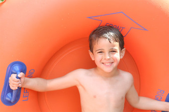 Kid with tube